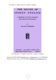 영어음성학,영어회화에서 발음 음성학.The Sounds of Spoken English, by Walter Rippmann