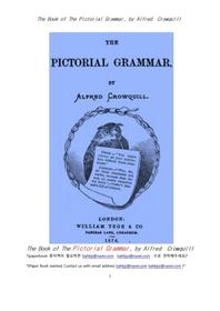 그림 영어문법.The Book of The Pictorial Grammar, by Alfred Crowquill