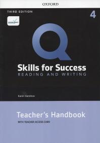 Q Skills for Success: Reading and Writing. 4 Teacher's handbook (with Teacher Access Card)