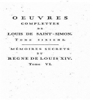 Oeuvres complettes de Louis de Saint-Simon - Tome VI