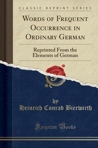 Words of Frequent Occurrence in Ordinary German