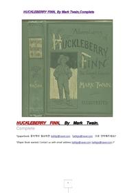 허클베리핀의 모험.HUCKLEBERRY FINN, By Mark Twain,Complete