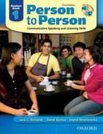 Person to Person 1(Student Book)(Third Edition)(CD1장포함)
