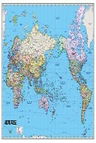 세계지도: 정치(코팅원지)