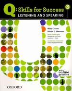 LISTENING AND SPEAKING. 3(Q SKILLS FOR SUCCESS