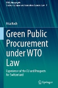 Green Public Procurement Under Wto Law