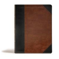 [해외]CSB Tony Evans Study Bible, Black/Brown Leathertouch, Indexed (Imitation Leather)
