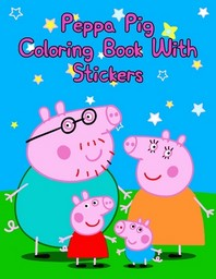 [해외]Peppa Pig Coloring Book With Stickers