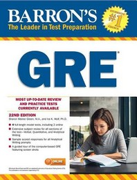 Barron's GRE, 22th ed.