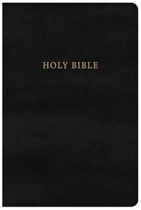 [해외]KJV Large Print Personal Size Reference Bible, Classic Black Leathertouch
