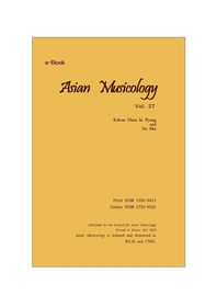 eBook Asian musicology 27