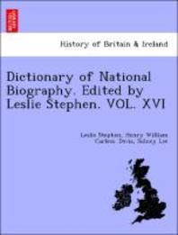[해외]Dictionary of National Biography. Edited by Leslie Stephen. Vol. XVI (Paperback)