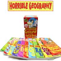 호러블 지오그래피 10권 박스 세트 Horrible: Geography with the Critty bits left in! 10 books set