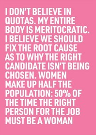 50% of the Time the Right Person for the Job Must Be a Woman