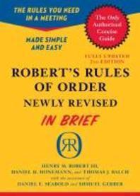 [해외]Robert's Rules of Order in Brief