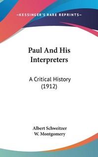 Paul And His Interpreters