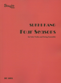 Four Seasons for Solo Violin and String Ensemble(SE 1601)
