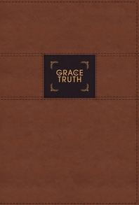 [해외]Niv, the Grace and Truth Study Bible, Leathersoft, Brown, Red Letter, Comfort Print (Imitation Leather)