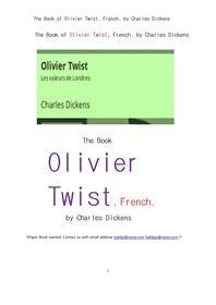 프랑스어의 올리버트위스트.The Book of Olivier Twist, French. by Charles Dickens