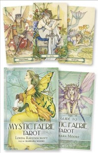 Mystic Faerie Tarot [With 312 Page Book and 78 Card Deck and Gold Organdy Tarot Bag]
