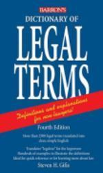 Dictionary of Legal Terms, 4/e