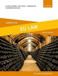 [해외]Complete Eu Law
