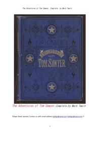 그림 삽화의 톰소여 모험.The Adventures of Tom Sawyer, Complete, by Mark Twain