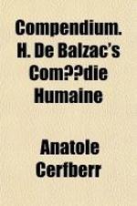 Compendium. H. de Balzac's Com Die Humaine