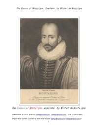 몽태뉴의 수상록.The Essays of Montaigne, Complete, by Michel de Montaigne