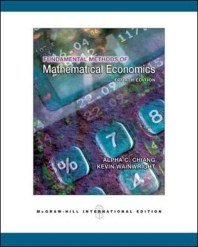 Fundamental Methods of Mathematical Economics, 4/E 4판아님 (내옹참조)