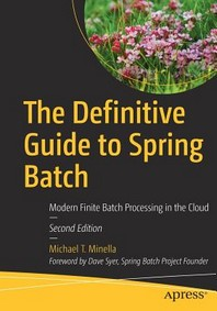 [해외]The Definitive Guide to Spring Batch