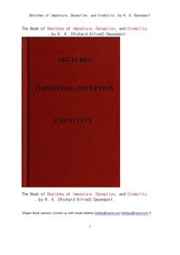 점성술에 의한 거짓과 진실의 묘사들.Sketches of Imposture, Deception, and Credulity, by R. A. Davenpo