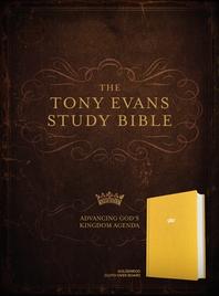 [해외]CSB Tony Evans Study Bible, Goldenrod Cloth Over Board (Hardcover)