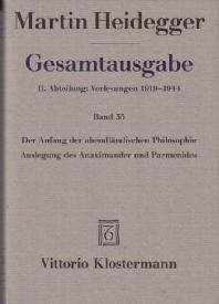 [해외]Martin Heidegger, Gesamtausgabe. II. Abteilung (Paperback)