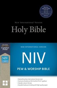 [해외]NIV, Pew and Worship Bible, Hardcover, Black (Hardcover)