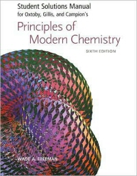 Principles of Modern Chemistry(SSM for Oxtoby) 표지뒷면 왼쪽밑부분 접힘 있음