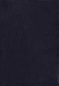 [해외]Niv, the Grace and Truth Study Bible, Premium Goatskin Leather, Navy, Premier Collection, Black Letter, Art Gilded Edges, Comfort Print (Leather)