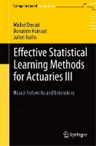 [해외]Effective Statistical Learning Methods for Actuaries III