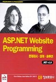 ASP.NET WEBSITE PROGRAMMING .NET V1.0