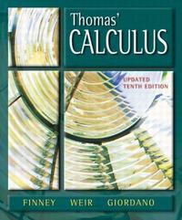 Thomas' Calculus, 10/e