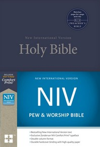 NIV, Pew and Worship Bible, Hardcover, Blue