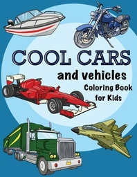 [해외]Cool Cars and Vehicles Coloring book for Kids