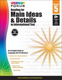 [해외]Spectrum Reading for Main Ideas and Details in Informational Text, Grade 5