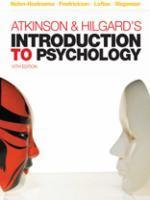 Atkinson and Hildegard's Introduction to Psychology