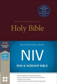 [해외]NIV, Pew and Worship Bible, Hardcover, Burgundy (Hardcover)