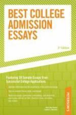 BEST COLLEGE ADMISSION ESSAYS(3RD EDITION)