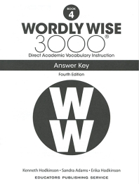 Wordly Wise 3000: Book 4 Answer Key (4/E)