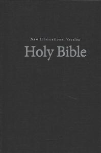 NIV, Pew and Worship Bible, Large Print, Hardcover, Black