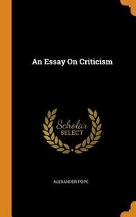 [해외]An Essay On Criticism