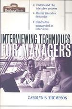 [해외]Interviewing Techniques for Managers (Paperback)